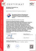 Certyfikat EN ISO 9001:2015 - miniatura certyfikatu - powiększ zdjęcie