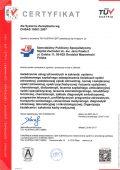 Certyfikat OHSAS 18001:2007 - miniatura certyfikatu - powiększ zdjęcie
